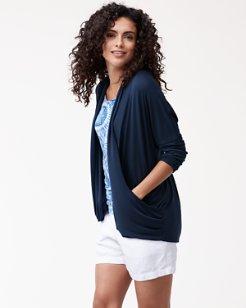 IslandZone® Jersey Cardigan
