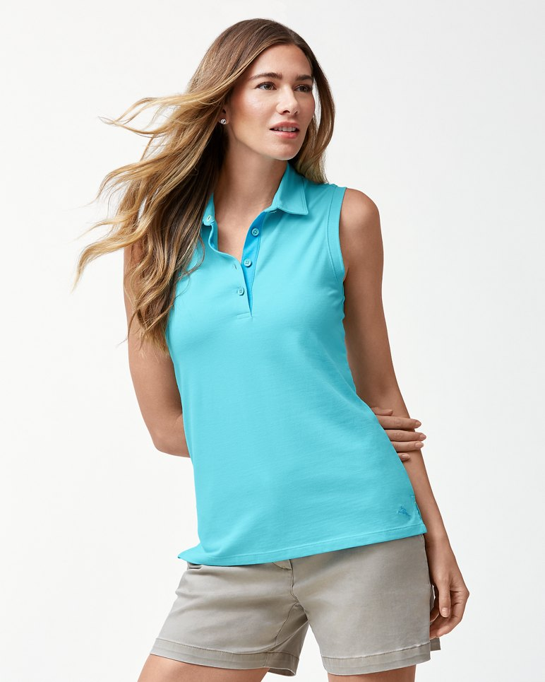 Main Image for Tropicool IslandZone® Sleeveless Polo