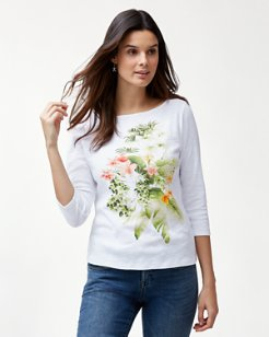 Ashby Queen Palms 3/4-Sleeve T-Shirt