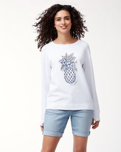 Jen & Terry Pineapple Crewneck Sweatshirt