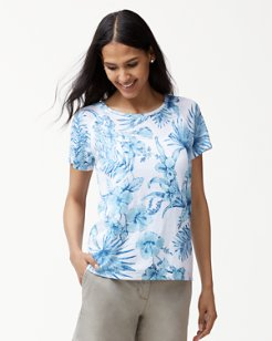 Tulum Tropical Linen T-Shirt
