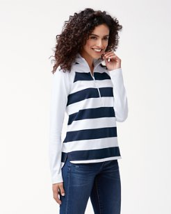 Thera Stripe Half-Zip Sweatshirt