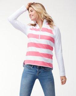 Thera Stripe Half-Zip Sweatshirt