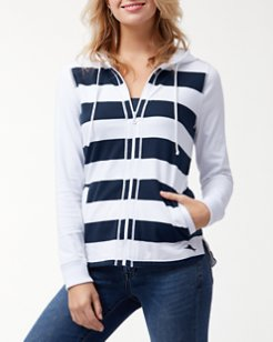 Thera Stripe Full-Zip Hoodie