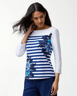 Ashby Fuego Floral 3/4-Sleeve T-Shirt