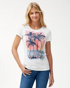 Watercolor Palm Tree Tee