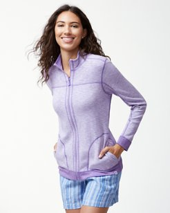 Sea Glass Reversible Full-Zip Sweatshirt