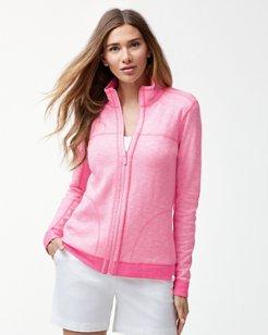 Sea Glass Reversible Full-Zip Sweatshirt
