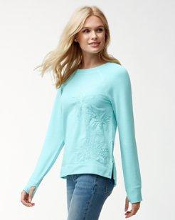 Jen & Terry Palm Sweatshirt