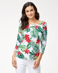 Ashby Hiding Hibiscus 3/4-Sleeve T-Shirt