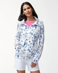 Jen & Terry Coastal Cabanas Full-Zip Sweatshirt
