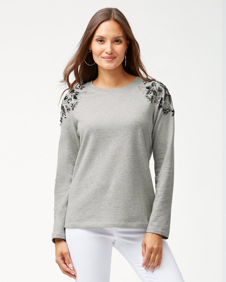 Main Image for Sea Glass Embellished Crewneck Sweatshirt