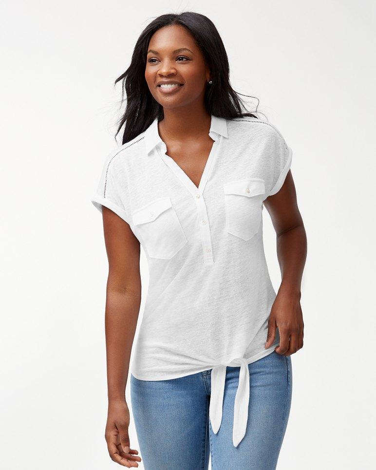Main Image for Linnea Linen Tie Knit Shirt