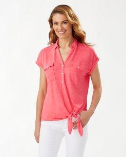 Linnea Linen Tie Knit Shirt
