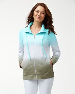 Ombré Agassi Dip-Dye Full-Zip Sweatshirt