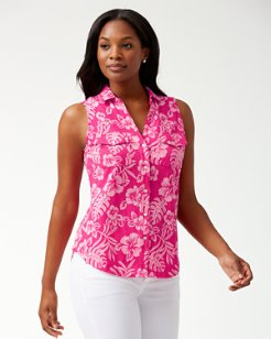 Hoani Hibiscus Sleeveless Knit Shirt