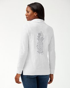 Piña Coolita Embellished Full-Zip Sweatshirt
