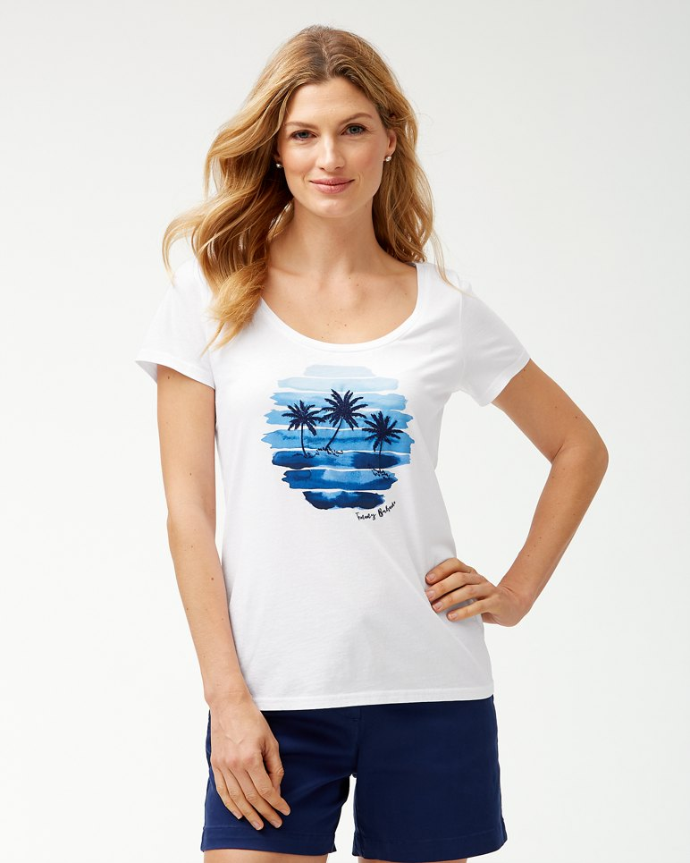 Main Image for Sunset Scenic Embroidered T-Shirt