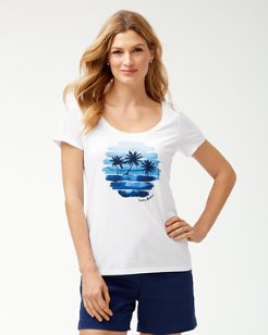 Sunset Scenic Embroidered T-Shirt