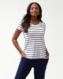 One Wave Or Another Embroidered T-Shirt