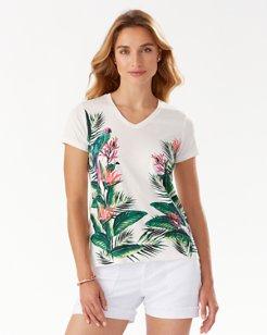 Paradiso Parrots V-Neck T-Shirt