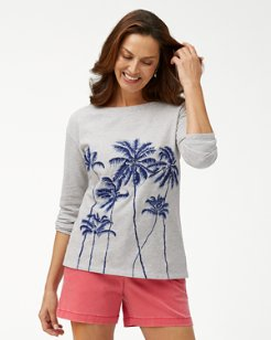 Palm Viale Embroidered Sweatshirt