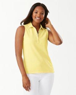 Paradise Sleeveless Garment-Dyed Polo