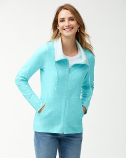 Beachy Reversible Full-Zip Performance Sweatshirt