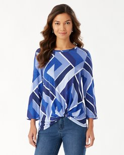 Into The Blues 3/4-Sleeve Top