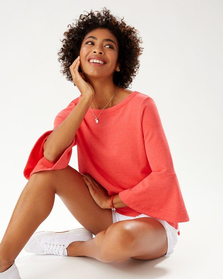 Main Image for Sea Glass Bell-Sleeve Sweatshirt