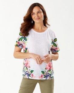 Hermosa Flora Linen T-Shirt