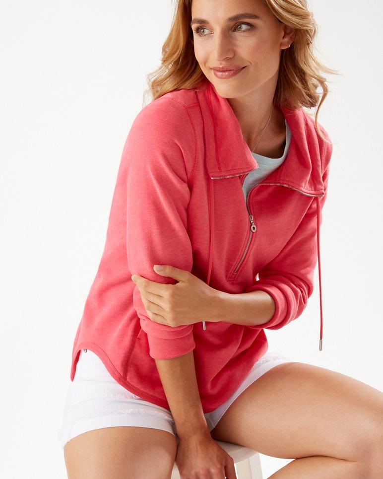 Main Image for Sea Glass Cowl Half-Zip Sweatshirt