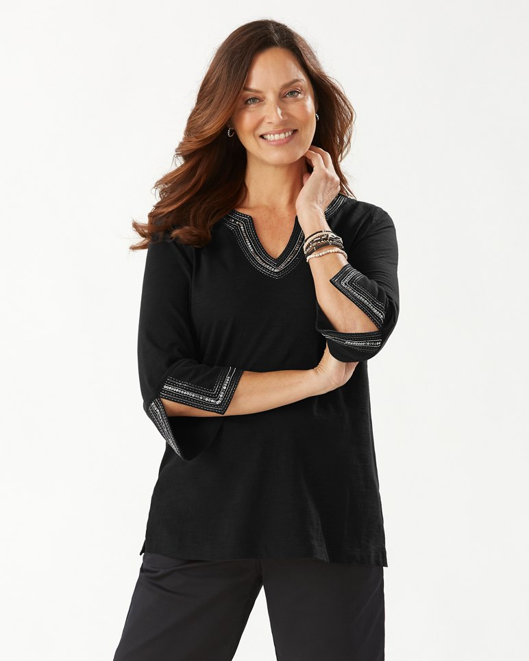 Main Image for Luxe Sparkle Embellished Cotton Tunic