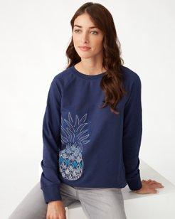 Icon Embroidered Pineapple Crew Sweatshirt