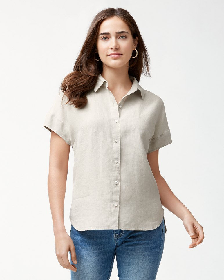 bca76446 Main Image for Two Palms Linen Short-Sleeve Shirt