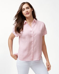 Two Palms Linen Short-Sleeve Shirt