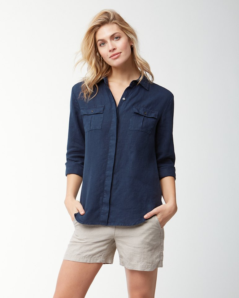 Main Image for Two Palms Linen Shirt