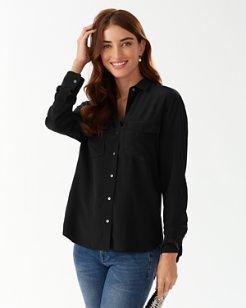June Silk Cargo Shirt