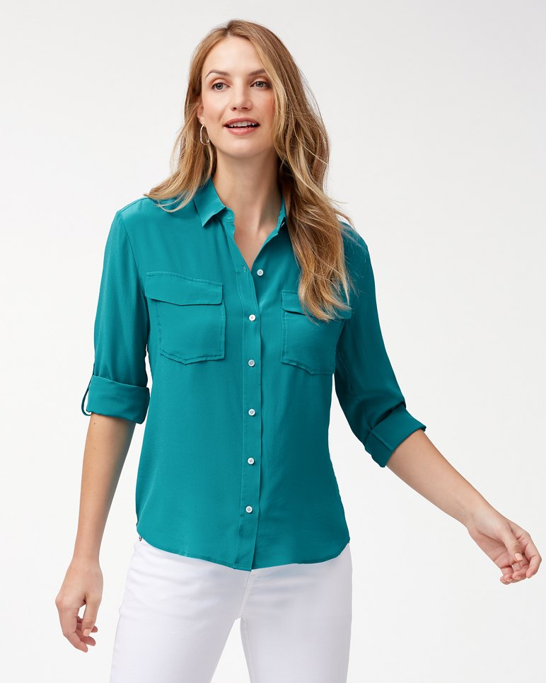 Main Image for June Silk Cargo Shirt