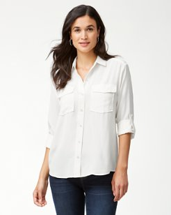 June Silk Cargo Shirt