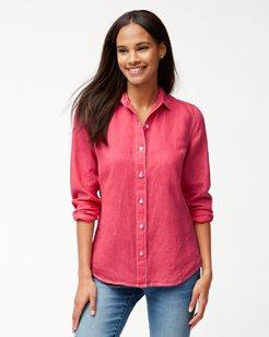 Sea Glass Breezer Linen Boyfriend Shirt