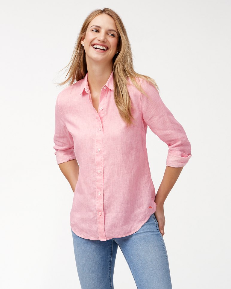 Main Image for Sea Glass Breezer Linen Boyfriend Shirt