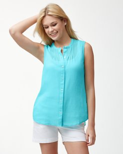 Coastview Gauze Sleeveless Top
