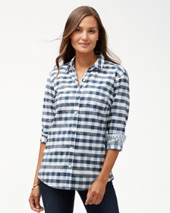 Fragmented Gingham Long-Sleeve Shirt