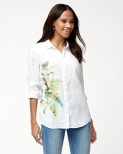 Queen Palms Linen Shirt