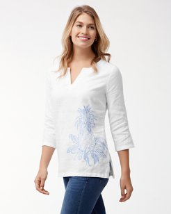 Two Palms Linen Embroidered Tunic