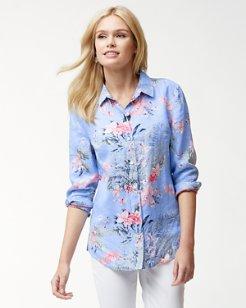 Madeira Blooms Linen Shirt