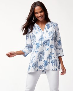 Having A Toile Linen-Blend Tunic