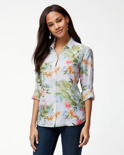 Madeira Blooms Silk Shirt