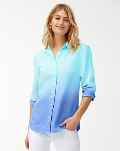 Two Palms Dip-Dye Linen Shirt